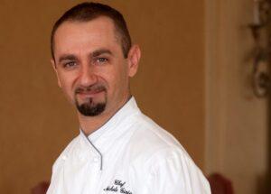 Chef Michelino Gioia del ristorante Il Pellicano a Porto Ercole